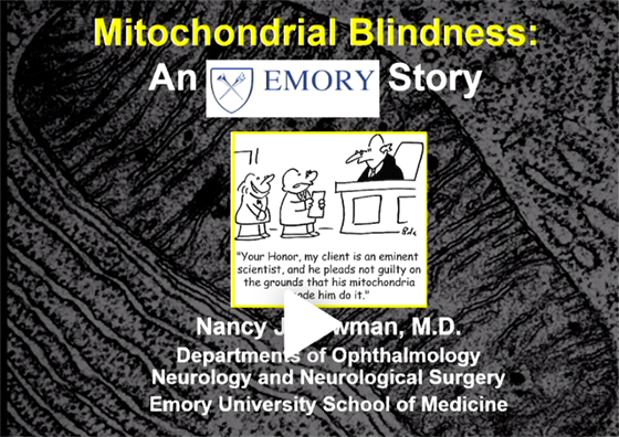 Mitochondrial Blindness An Emory Story by Nancy J. Newman, MD